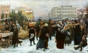 5 Genrich Manizer (Russian artist, 1847–1925) Christmas Tree Market