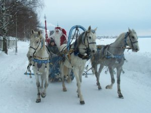 christmas cf3bbedd2584 father frost with horses